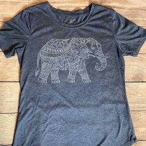 Sz S Blue T-shirt With Elephant